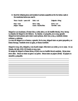 Spanish Adjective Test With Articles (El/La)