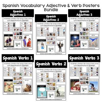 Spanish Adjective & Verb Posters Bundle