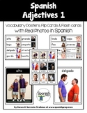 Spanish Adjectives 1 Vocabulary Posters & Flashcards with