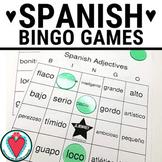Spanish Vocabulary - Spanish Adjectives BINGO