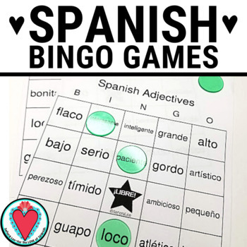 Spanish Adjectives BINGO