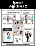 Spanish Adjectives 2 Vocabulary Posters & Flashcards with