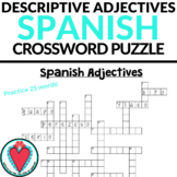 Spanish Adjectives - Spanish Crossword Puzzle