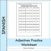 Spanish Adjectives Practice