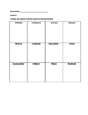 Spanish Adjectives (Draw and Translate) Grid