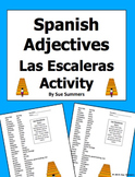 Spanish  Adjectives Escaleras - Partner Oral Activity