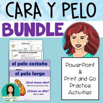 Spanish Adjectives Face and Hair With Tener, BUNDLE