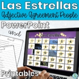 Spanish Adjectives Game - Spanish Game and Worksheet Las E