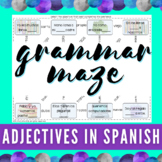 Spanish Adjectives   Grammar Maze   Digital & PDF