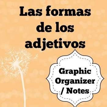 Spanish Adjectives Graphic Organizer / Notes