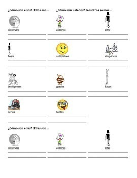 Spanish Adjectives Lesson 4 - all forms