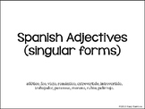 Spanish Adjectives Powerpoint/Guided Notes: Lesson One (Singular), Los Adjetivos