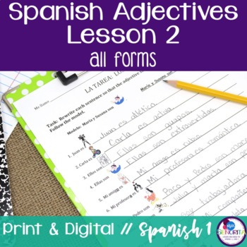 Spanish Adjectives Lesson 2 - all forms