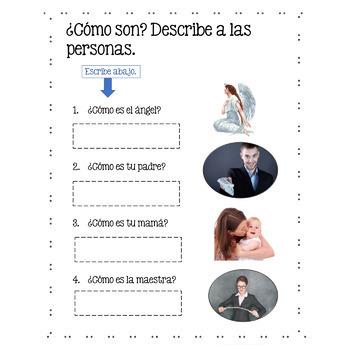 Spanish Adjectives Los adjetivos Google Drive Activities