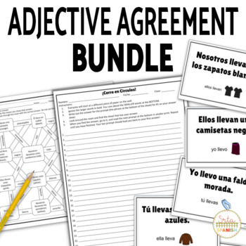Spanish Adjectives And Nouns Agreement Bundle By Srta Spanish Tpt