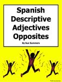 Spanish  Adjectives Opposites - 20 Descriptive Adjectives Worksheet