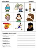 Spanish Adjectives Q+A Practice