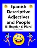 Spanish Adjectives & People Worksheet - Number & Gender Agreement