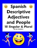 Spanish Adjectives & People Worksheet - Number & Gender Agreement