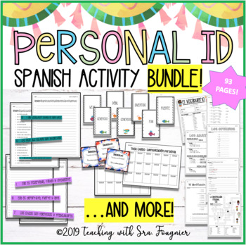 Spanish Adjectives Personal ID BUNDLE