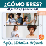 Spanish Adjectives Personality Traits Interactive Notebook