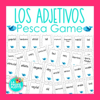 Spanish adjectives pesca go fish game by la profe for Go fish games