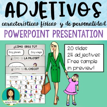 Spanish Physical Adjectives PowerPoint