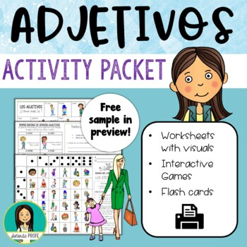 Spanish Physical Adjectives / Los Adjetivos Activity Packet