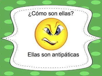 Spanish Adjectives Powerpoint 4 - all forms