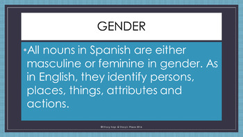 Spanish Adjectives Powerpoint: Introduction with Guided Notes (Los Adjetivos)