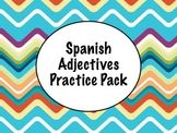 Spanish Adjectives Worksheet Practice Pack for any level