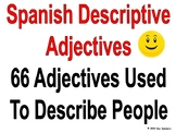 Spanish Adjectives Presentation and Flash Cards - Adjetivos