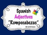 Spanish Adjectives Puzzle
