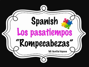 SPANISH PASTIMES/HOBBIES AND GUSTAR