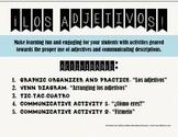 Spanish Adjectives & Ser Graphic Organizer, Communication,