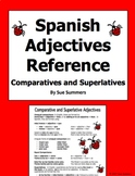 Spanish Adjectives - Spanish Comparatives / Superlatives Reference/Study Guide