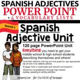Spanish Adjectives - Spanish PowerPoint & Vocabulary Lists