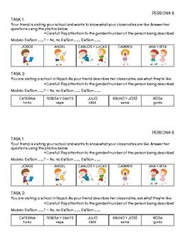 Spanish - Adjectives - Speaking Activity