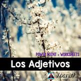 Spanish Adjectives Unit - Unidad Los Adjetivos {PPT presentation and Worksheets}