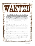 Spanish Adjectives Wanted Poster Activity