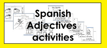 "Adjectives ""adjetivos"" in Spanish activities"