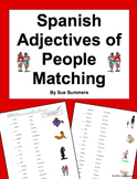 Spanish Adjectives of People Matching Worksheet