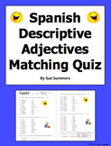 Spanish Adjectives of People and Noun/Adjective Agreement Quiz or Worksheet