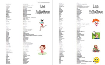 Spanish Adjectives of People Reference - English to Spanish 225 Words