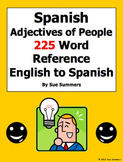 Spanish Adjectives of People Reference - English to Spanis