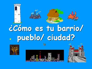 Spanish Teaching Resources. Adjectives To Describe Towns & Villages.
