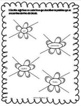 Adjetivos en Español - Tema: Primavera