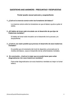 Advanced Spanish Reading and Comprehension 1 Medical smoking