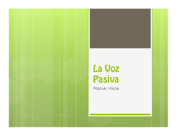 Spanish Passive Se Notes