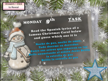Spanish Advent Calendar